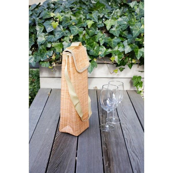 Torba termiczna na wino Kikkerland Wicker