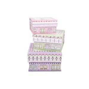Zestaw 3 pudełek Little Houses