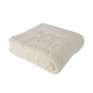 Jasnobeżowy koc bawełniany Homemania Cotton, 170x130 cm
