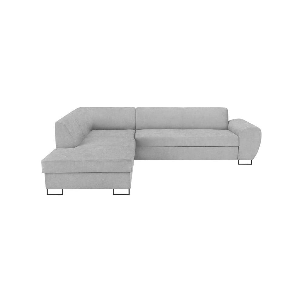 Szary narożnik rozkładany ze schowkiem Kooko Home XL Left Corner Sofa Piano Puro