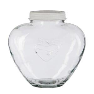Szklany pojemnik Jar Heart, 24 cm