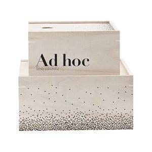 Zestaw 2 drewnianych pudełek Ad Hoc