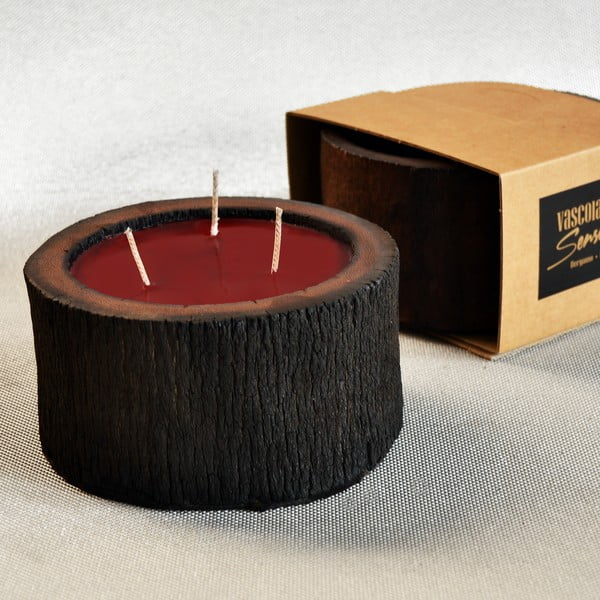 Palmowa świeczka Legno Cera o zapachu owoców egzotycznych, 40 godz