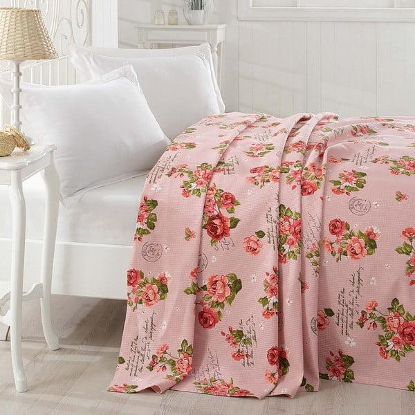 Narzuta na łóżko Grete Pink, 200x235cm