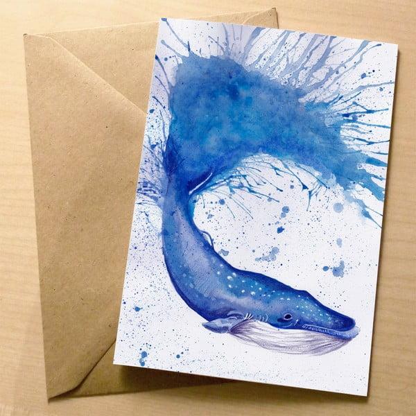 Kartka okolicznościowa Wraptious Splatter Whale