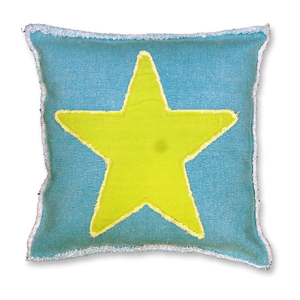 Poduszka Star 45x45 cm, niebieska