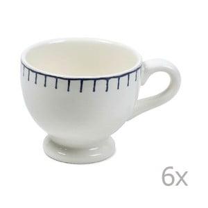Zestaw 6 kubków Sophie Stitch 200 ml, niebieski