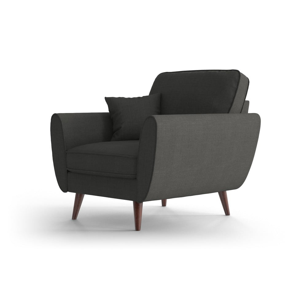 Antracytowy fotel My Pop Design Auteuil