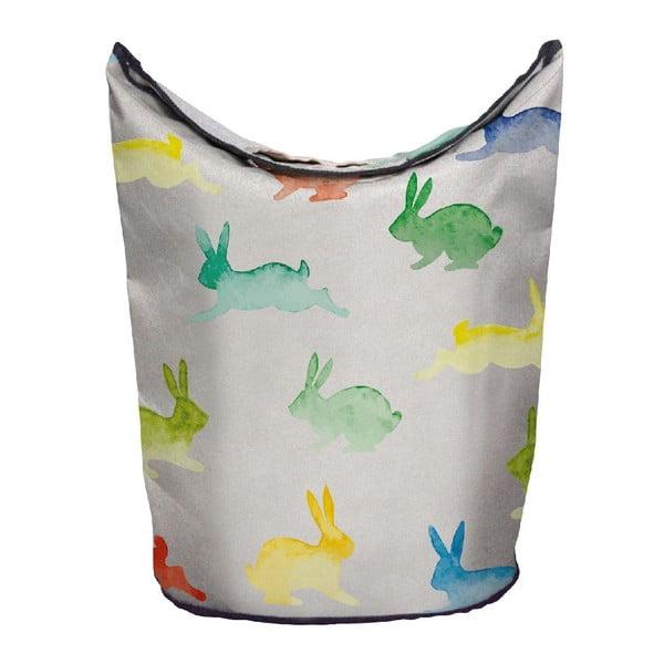Kosz na bieliznę Watercolour Rabbits