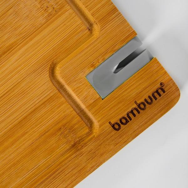 Bambusowa deska do krojenia z osełką Livada, 33x25 cm