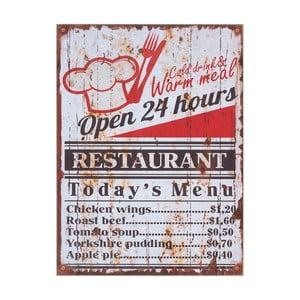 Tablica naścienna InArt Restaurant, 30x40 cm