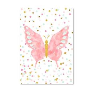 Plakat Americanflat Butterfly Blush, 30x42 cm