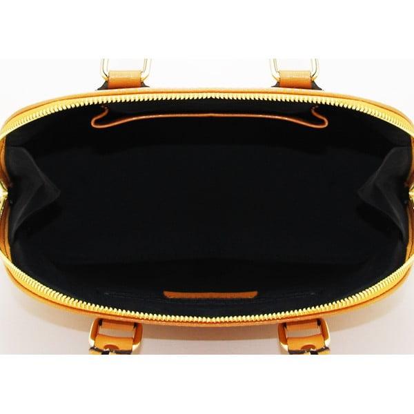 Skórzana torebka Cheesa Cognac