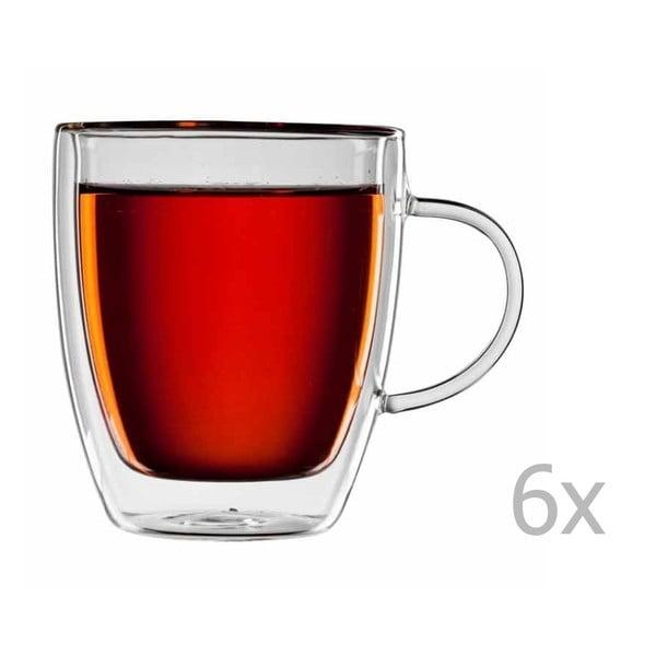 Zestaw 6  szklanych filiżanek na herbatę bloomix Darjeeling