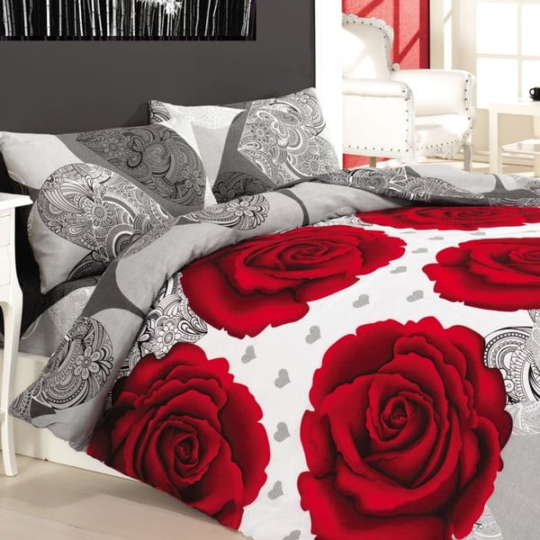 Komplet pościeli Gun Red Rose, 240x220 cm