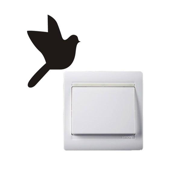 Naklejka dekoracyjna Bird, 9x6,6 cm