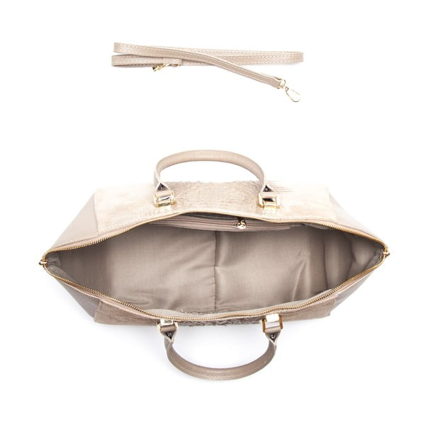 Skórzana torebka Renata Corsi 6944, kremowa