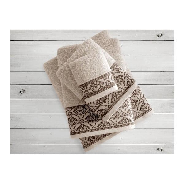Beżowy ręcznik Irya Home Felice, 50x90 cm