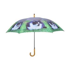 Granatowy parasol z kotami Esschert Design