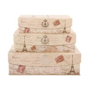 Zestaw 3 pudełek Greetings from Paris