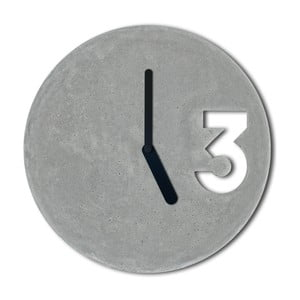 Betonowy zegar Jakuba Velínskiego, pełne czarne wskazówki