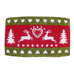 Wycieraczka Winter Heart & Deer, 73x45 cm