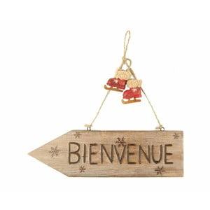 Brązowa tablica dekoracyjna Antic Line Bienvenue