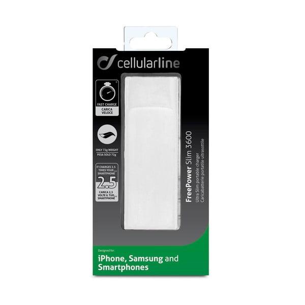 Przenośna ładowarka/powerbank CellularLine FREEPOWER Slim, 3600mAh, czarna