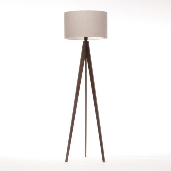 Kremowa lampa stojąca 4room Artist, brązowa lakierowana brzoza, 150 cm