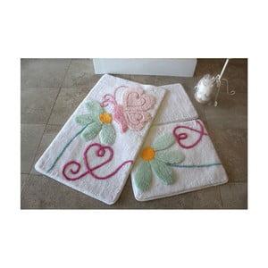 Zestaw 3 dywaników łazienkowych Alessia Ponte White