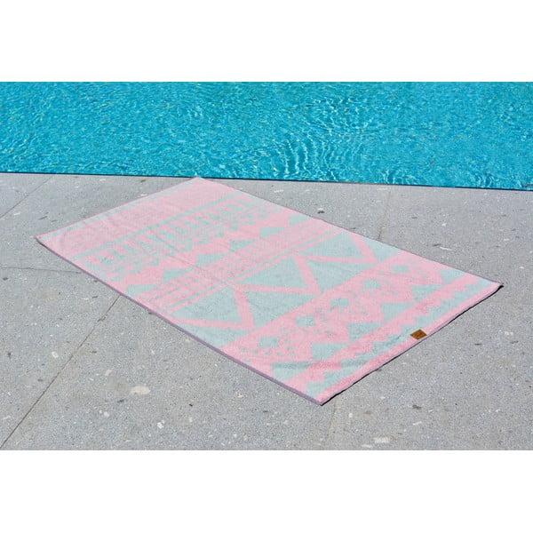 Ręcznik kąpielowy Hawke&Thorn Crosstitch, 90x160 cm