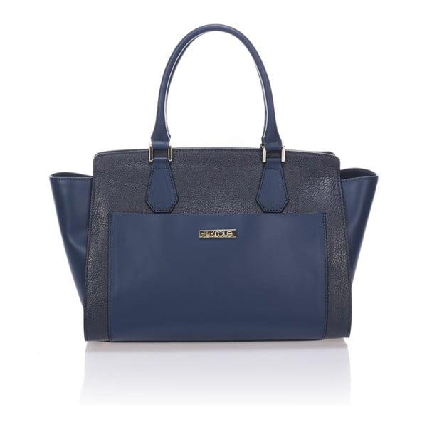 Skórzana torebka Krole Kristen, niebieska