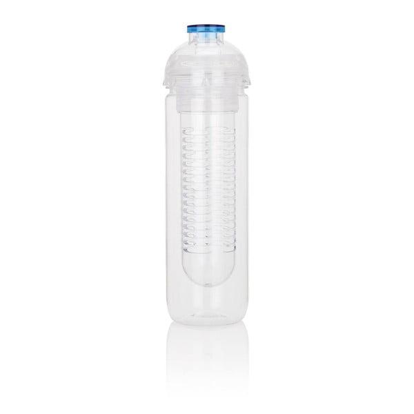 Niebieska butelka z sitkiem na owoce XD Design Trita