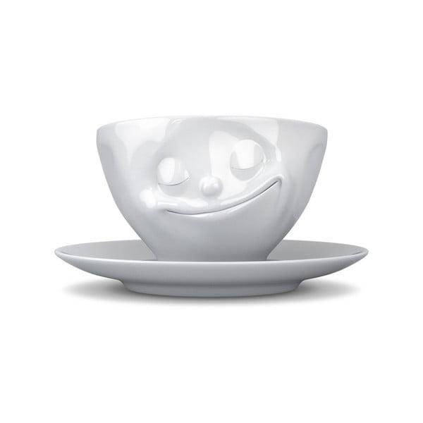 Biała szczęśliwa filiżanka do espresso 58products