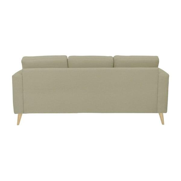 Ciemnobeżowa sofa 3-osobowa z naturalnymi nogami Helga Interiors Alex