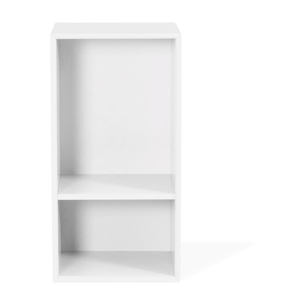 Biały regał Tenzo Z Halfcube, 36x70 cm