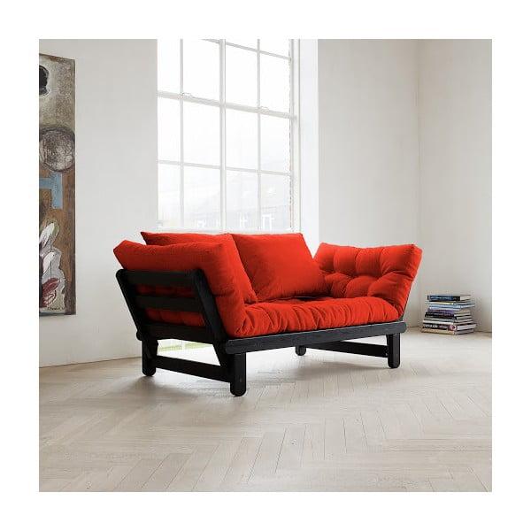 Sofa rozkładana Karup Beat Black/Red