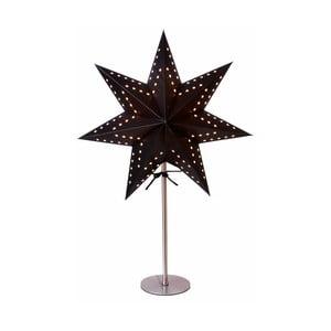 Gwiazda świecąca ze stojakiem Best Season Bobo Black, 50 cm