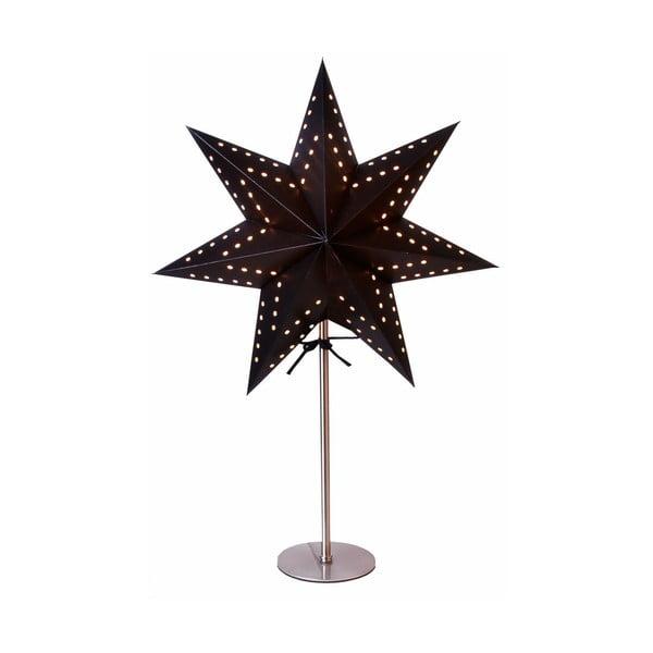 Czarna gwiazda świecąca ze stojakiem Best Season Bobo Black, 50 cm