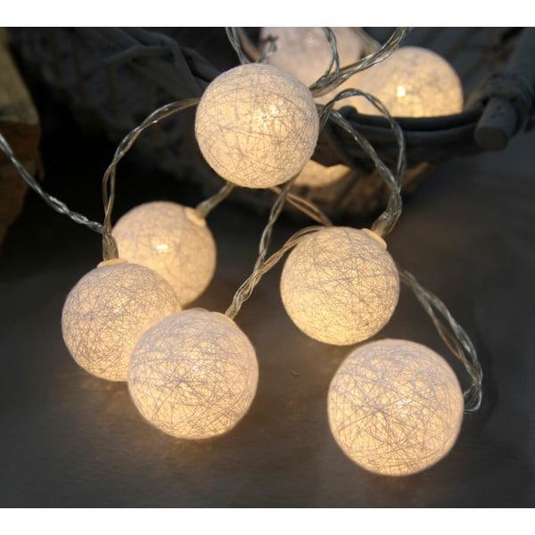 Biała girlanda świetlna LED Best Season Crystal, 10 kul
