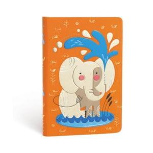 Notes w twardej oprawie Paperblanks Elephant, 9,5x14cm