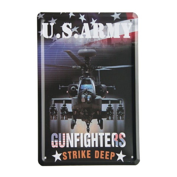 Tablica US Army Gunfighters, 15x21 cm