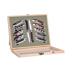Zestaw 12 noży składanych Laguiole Cleto