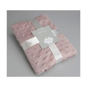 Koc Pink Small Hearts, 100x75 cm