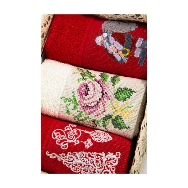 Zestaw 3 ręczników Xmas V22, 30x50 cm