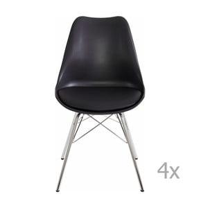 Zestaw 4 czarnych krzeseł Støraa Jenny