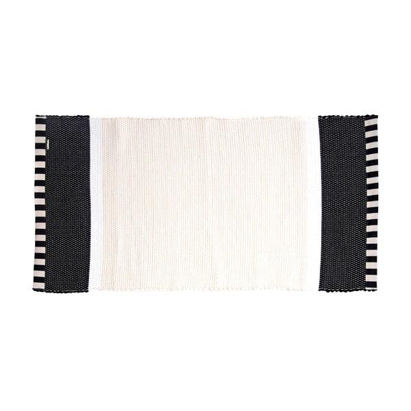 Dywan Lona Stripes 130x65 cm, biały/czarny