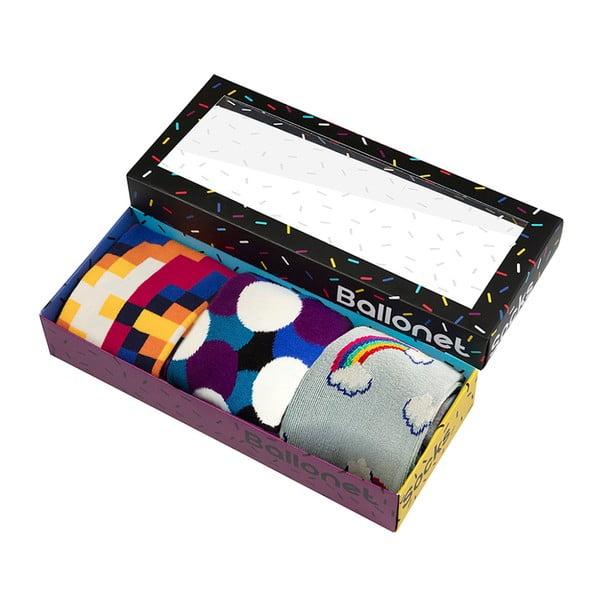 Prezentowy zestaw skarpetek Ballonet Socks Bubbles, rozmiar 41-46