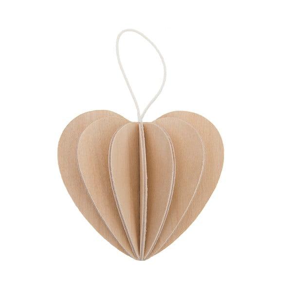 Składana pocztówka Heart Natural, 6.8 cm