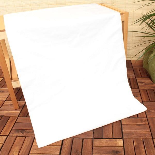 Prześcieradło nieelastyczne US Polo Assn. White Uspa, 240x260 cm